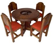 Muebles rusticos en madera muebles rusticos muebles de for Comedor redondo vintage